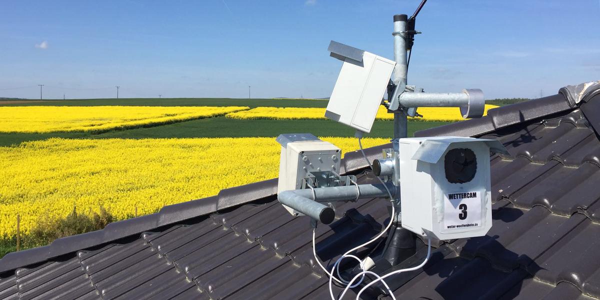 Webcams auf dem Hausdach