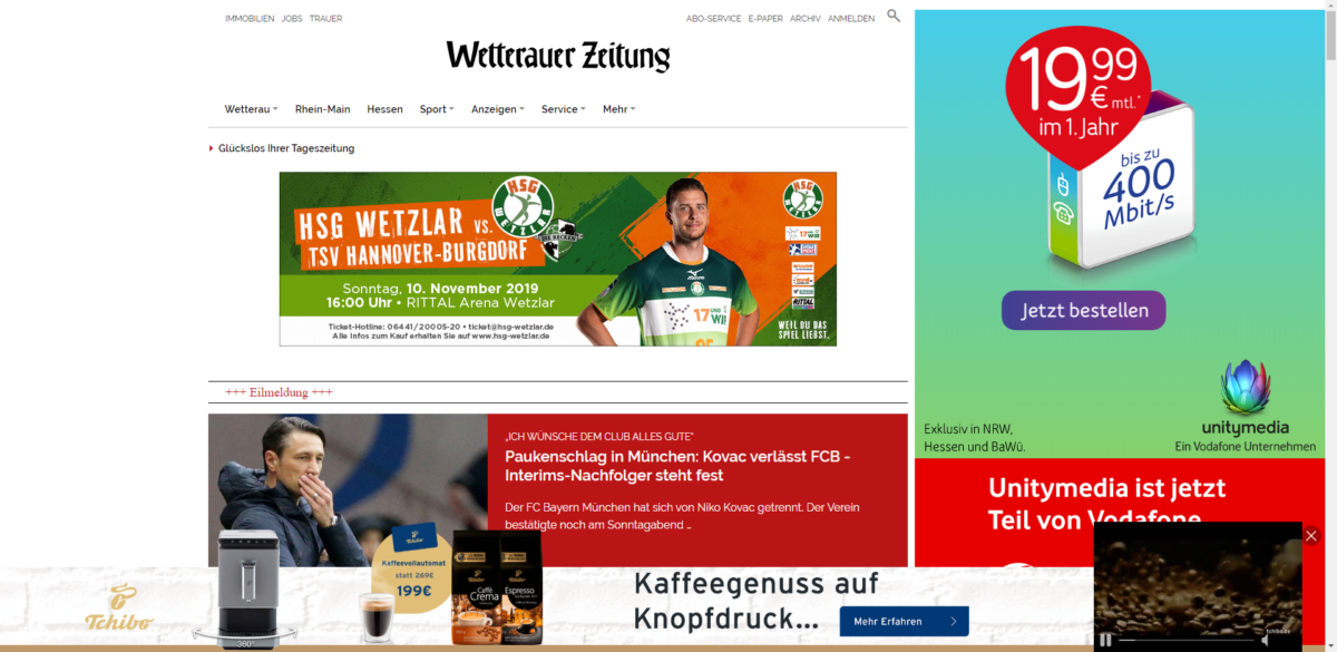 Wetterauer Zeitung - Startseite vom 3.11.2019, 22:30 Uhr