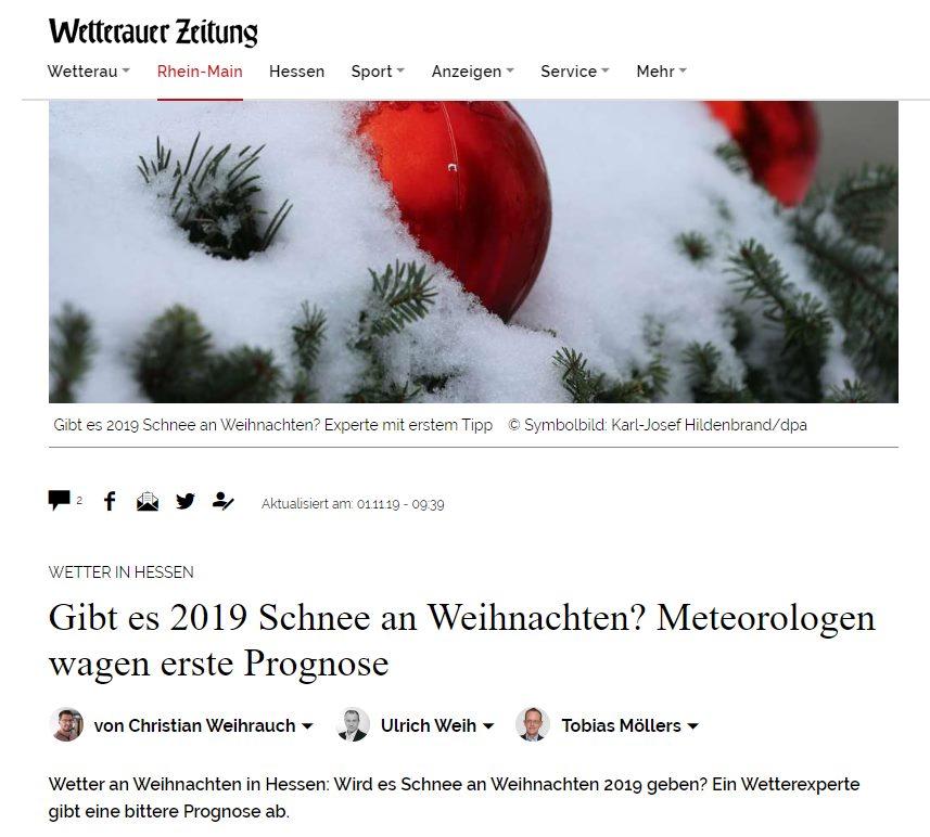Gibt es 2019 Schnee an Weihnachten? Meteorologen wagen erste Prognose