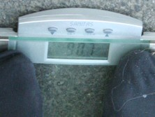 Bernds Gewicht: 90,7kg