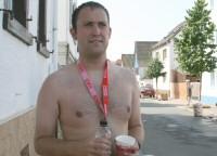 Im Ziel: Halbmarathon in Karben