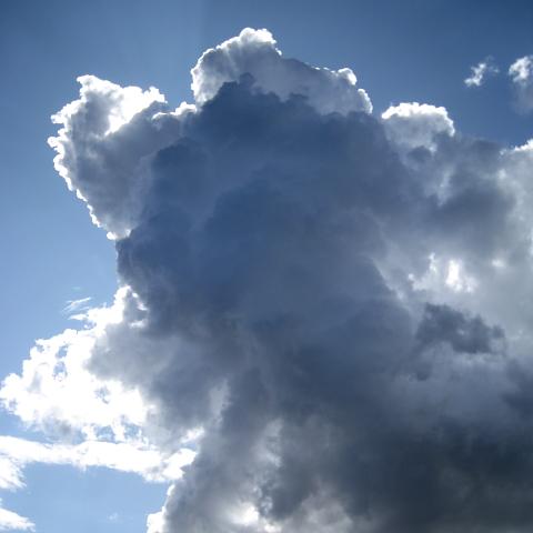 Cumulus vor Sonne