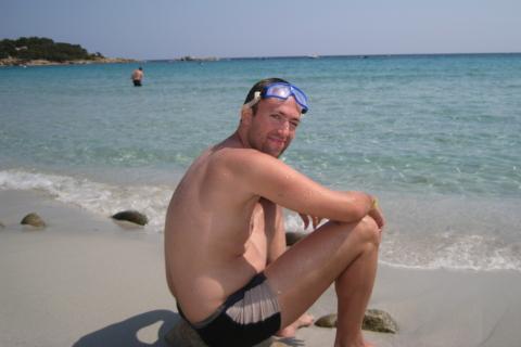 Daniel am Strand