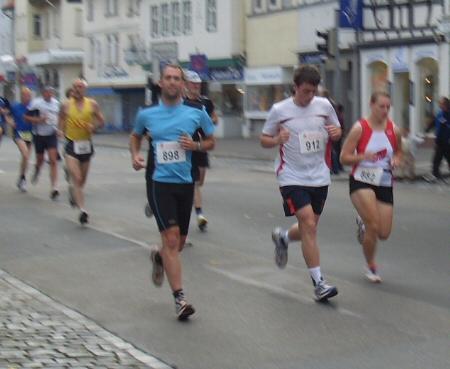 Daniel beim Altstadtlauf in Friedberg
