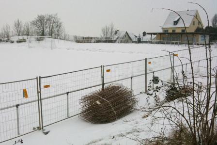 Baustelle am Singberg-Sportplatz