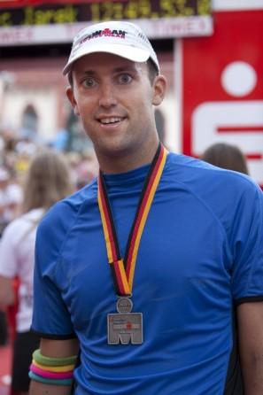 Daniel Rüd - Im Ziel beim Ironman 2010