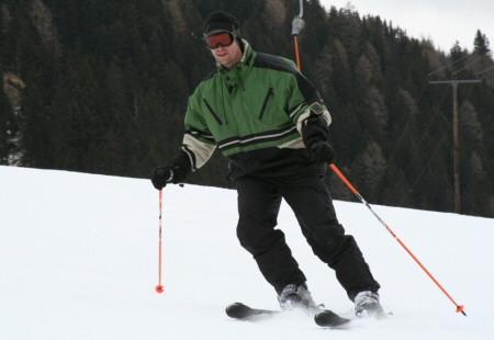 Daniel Rüd beim Ski fahren