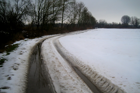Vereiste Laufwege im Winter 2010