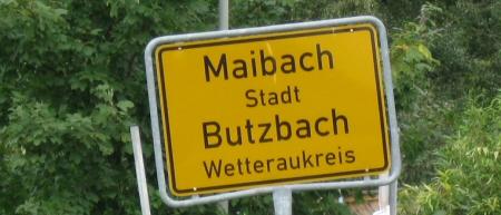 Butzbach-Maibach Ortsschild