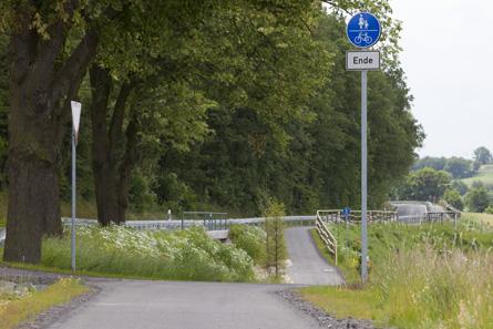 Radwegunterbrechung - nur kurz