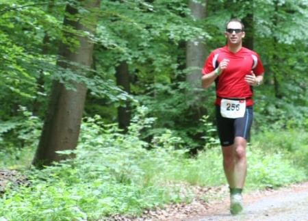 Daniel Rüd beim Triathlon - Laufen