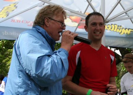 Daniel Rüd beim Triathlon - Zieleinlauf